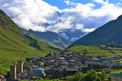 Ushguli,  Georgia. Architectural monuments of Upper Svanetia are included in a list of UNESCO World Heritage Sites Stock Photography