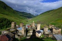 Ushguli,  Georgia. Towers in Ushguli, Upper Svaneti, Georgia Stock Photography