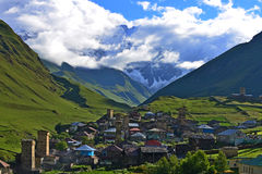 Ushguli,  Georgia. Ushguli village. Upper Svaneti - UNESCO World Heritage Royalty Free Stock Photography