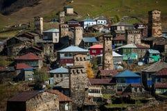Ushguli highland. Village in Georgia Stock Image