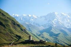 Ushguli monastery in Georgia Royalty Free Stock Photo