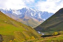 Ushguli-Shkhara trek, Svaneti Georgië Royalty-vrije Stock Foto