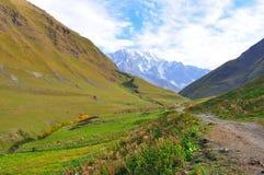 Ushguli-Shkhara trek, Svaneti Georgia Royalty Free Stock Image