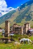 Ushguli, Svaneti superior, Georgia, Europa Foto de archivo