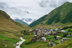 Ushguli village in Caucasus Upper Svaneti Royalty Free Stock Image
