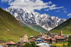 Ushguli. Village. Caucasus, Upper Svaneti - UNESCO World Heritage Site. Georgia Royalty Free Stock Photography