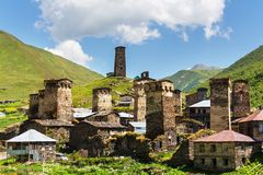 Ushguli. Village. Caucasus, Upper Svaneti - UNESCO World Heritage Site. Georgia Royalty Free Stock Images