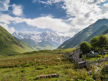 Ushguli village. Europe, Caucasus,  Georgia. Stock Photo