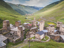 Ushguli village. Europe, Caucasus,  Georgia. Royalty Free Stock Photos