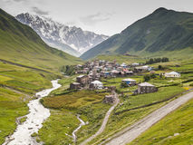 Ushguli village. Europe, Caucasus,  Georgia. Stock Photos