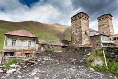 Ushguli village in Swanetia. Georgia Royalty Free Stock Images