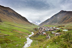 Ushguli village in Swanetia. Georgia Stock Photo