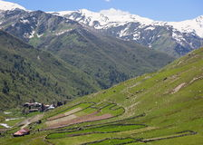 Ushguli village. Upper Svaneti. Georgia. Stock Images