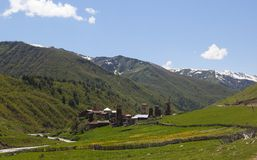 Ushguli village. Upper Svaneti. Georgia. Stock Photography