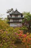 Ushitora torn av den Hirosaki slotten, Hirosaki stad, Japan Royaltyfri Foto