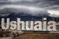 Ushuaia, Αργεντινή, η πιό νοτηότατη πόλη στον κόσμο στοκ φωτογραφία με δικαίωμα ελεύθερης χρήσης
