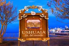 Ushuaia Ребро Del Mundo Стоковая Фотография