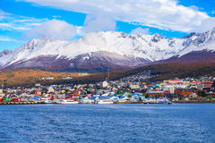 Ushuaia aerial view, Argentina Stock Image