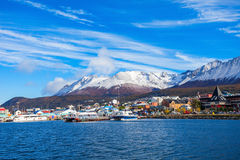 Ushuaia aerial view, Argentina Stock Images