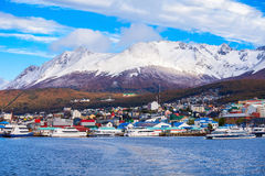Ushuaia aerial view, Argentina. Ushuaia aerial view. Ushuaia is the capital of Tierra del Fuego province in Argentina Stock Image
