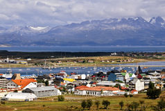 Ushuaia, Argentina. The city of Ushuaia, Argentina, South America, a tourist destination for outdoor activities and cruise ships, sits at the bottom of the world Royalty Free Stock Photo