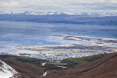 Ushuaia, Argentina. Ushuaia is the southernmost city in the world. It is located on the shores of the Beagle Channel, at the southern tip of Tierra del Fuego Royalty Free Stock Image