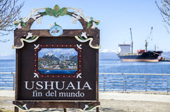 Ushuaia, Argentina. Ushuaia is the southernmost city in the world. It is located on the shores of the Beagle Channel, at the southern tip of Tierra del Fuego Stock Photography