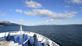 Ushuaia Argentina chanel view. Leaving Ushuaia Argentina  on the way to Antarcticaca stock video footage