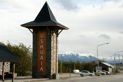 Ushuaia - Argentina. Ushuaia City Entrance in Argentina royalty free stock image