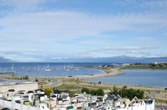 USHUAIA, ARGENTINA, 05 DECEMBER 2016: view to the local cemetery Royalty Free Stock Photography