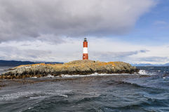 In Ushuaia, Argentina. The lightouse in the Beagle Channel in Ushuaia, Argentina stock photo