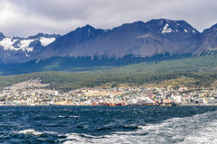 In Ushuaia, Argentina. The port in Ushuaia, Argentina stock photography