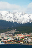 Ushuaia, Argentina. The view on the Ushuaia, Argentina royalty free stock images