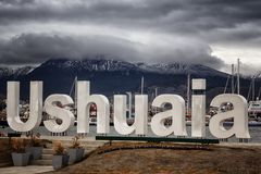 Ushuaia, Argentinië, de meest zuidelijke stad in de wereld royalty-vrije stock fotografie