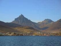 Ushuaia coastline. Modern city in the end of the world, Argentina Royalty Free Stock Photography