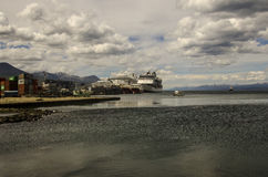 Ushuaia Cruise Ship Port Royalty Free Stock Photography