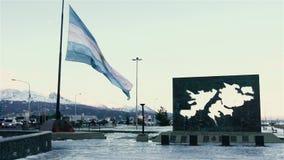 Ushuaia, de meest zuidelijke stad in de wereld, Argentinië stock footage