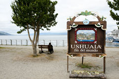 Ushuaia End of the World City Sign - Argentina Royalty Free Stock Photo