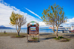 Ushuaia-Flosse Del Mundo Lizenzfreies Stockbild