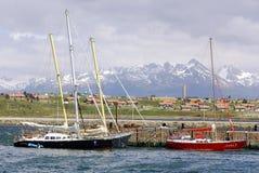 Ushuaia hamn Arkivbild