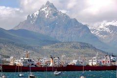 Ushuaia hamn Fotografering för Bildbyråer