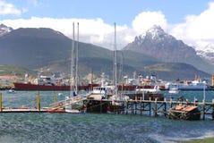 Ushuaia hamn Royaltyfri Bild