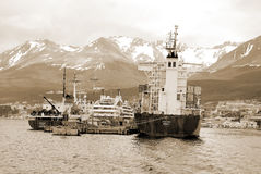 Ushuaia hamn Arkivbilder