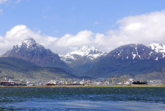 Ushuaia harbor. USHUAIA PATAGONIA ARGENTINA NOV. 27: Ushuaia harbor. It is commonly regarded as the southernmost city in the world on november 27 2011 in Ushuaia Stock Photography