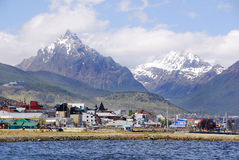 Ushuaia harbor. USHUAIA PATAGONIA ARGENTINA NOV. 27: Ushuaia harbor. It is commonly regarded as the southernmost city in the world on november 27 2011 in Ushuaia Royalty Free Stock Image