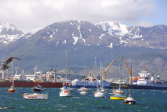 Ushuaia harbor Royalty Free Stock Photos