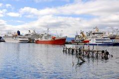 Ushuaia harbor. USHUAIA-ARGENTINA NOV. 27: Ushuaia harbor. It is commonly regarded as the southernmost city in the world on november 27 2011 in Ushuaia Argentina Stock Photo