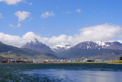 Ushuaia harbor Stock Photos