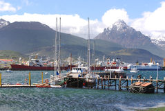 Ushuaia harbor Royalty Free Stock Image