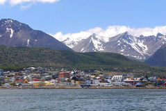 Ushuaia harbor Stock Photo